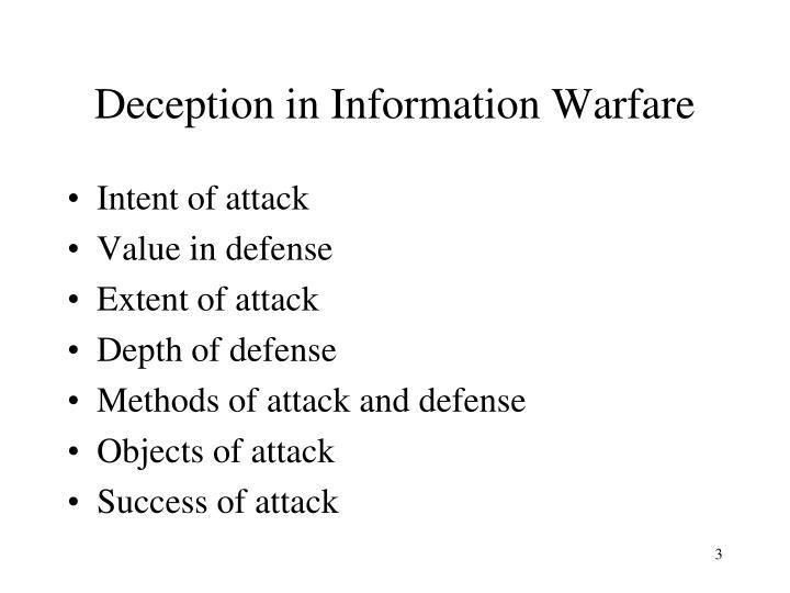 Deception in information warfare