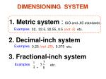 dimensioning system