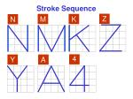 stroke sequence2
