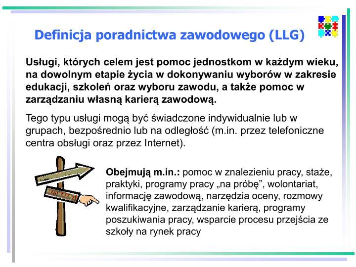 Definicja poradnictwa zawodowego (LLG)