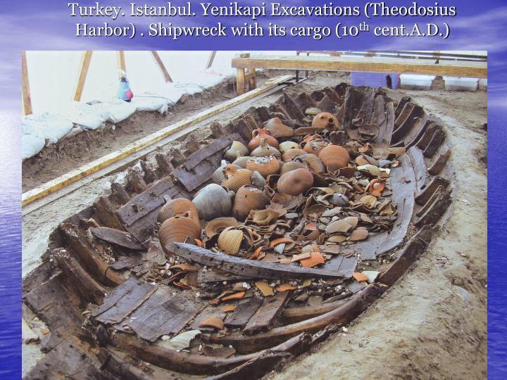 Turkey. Istanbul. Yenikapi Excavations (Theodosius Harbor) . Shipwreck with its cargo (10