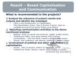 result based capitalisation and communication