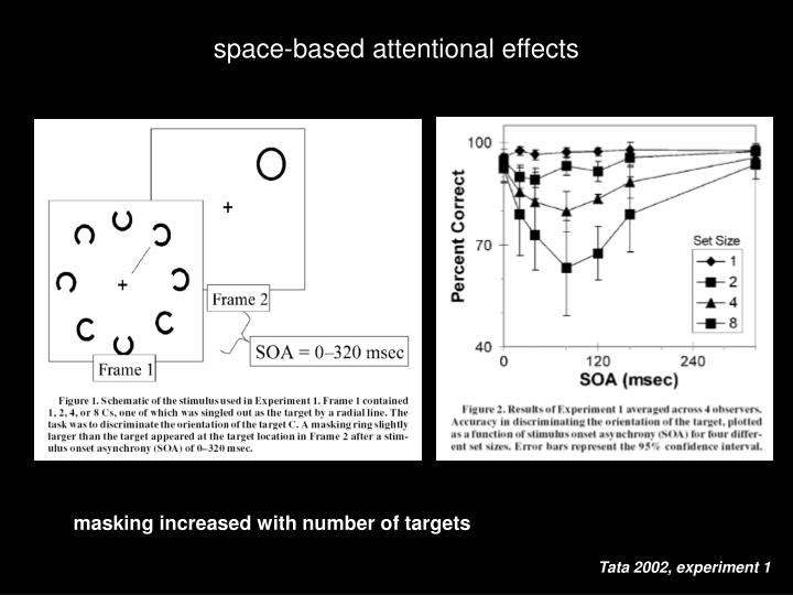 space-based attentional effects