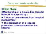 smoke free hospital membership