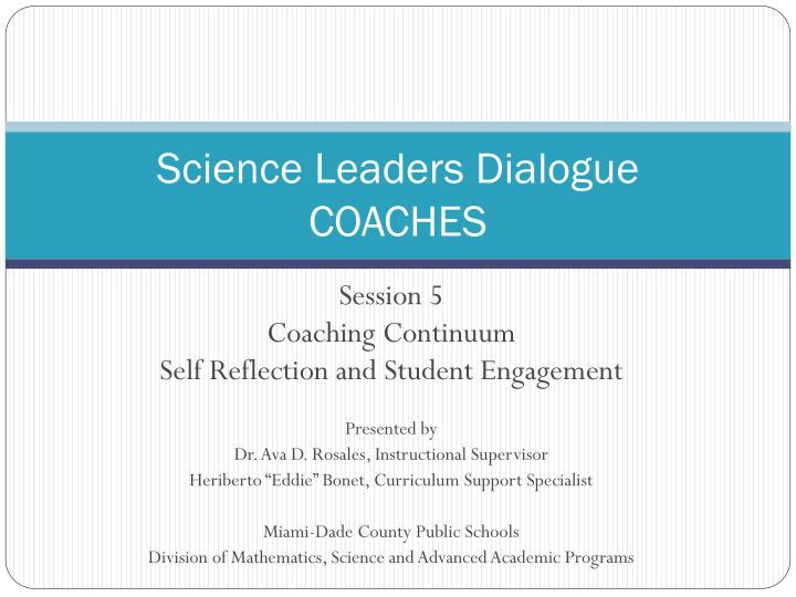 science leaders dialogue coaches n.
