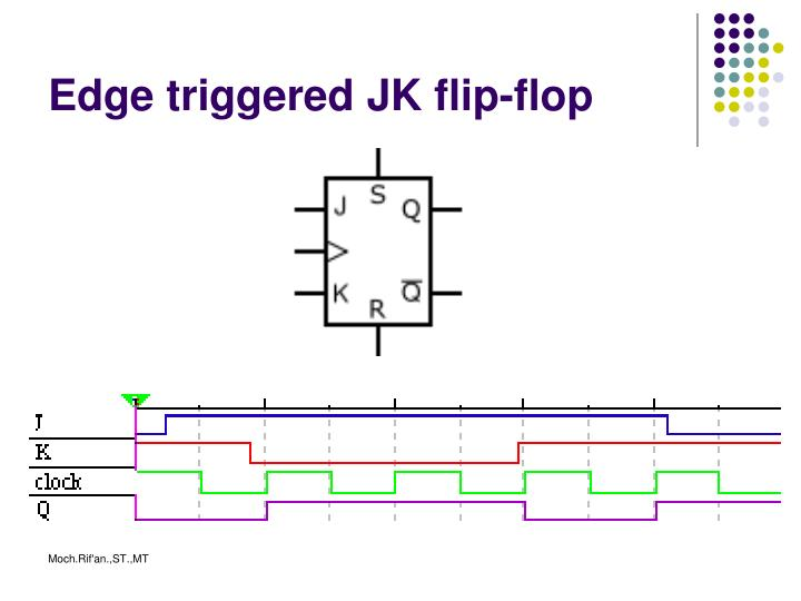 Edge triggered JK flip-flop