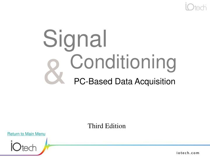 signal conditioning n.