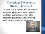 northridge elementary mission statement