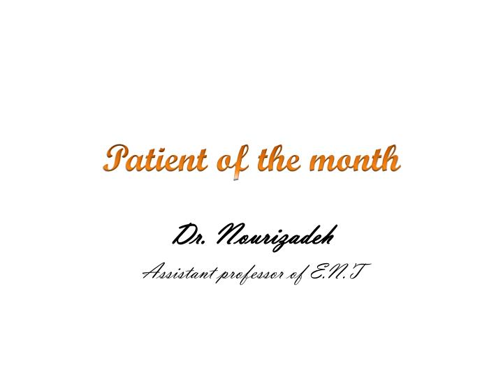 Patient of the month