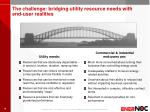 the challenge bridging utility resource needs with end user realities