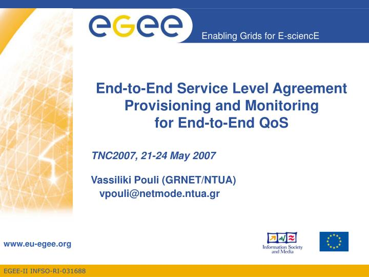 PPT End To End Service Level Agreement Provisioning And
