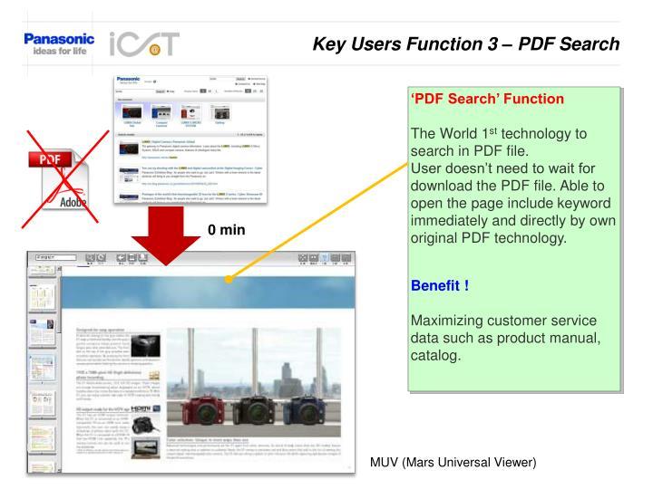 Key Users Function 3 – PDF Search