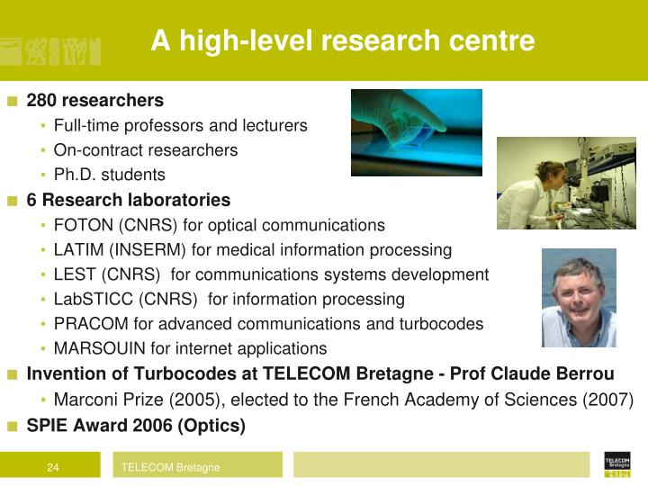 A high-level research centre