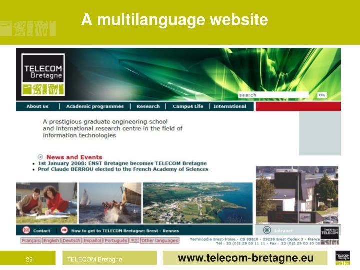 A multilanguage website