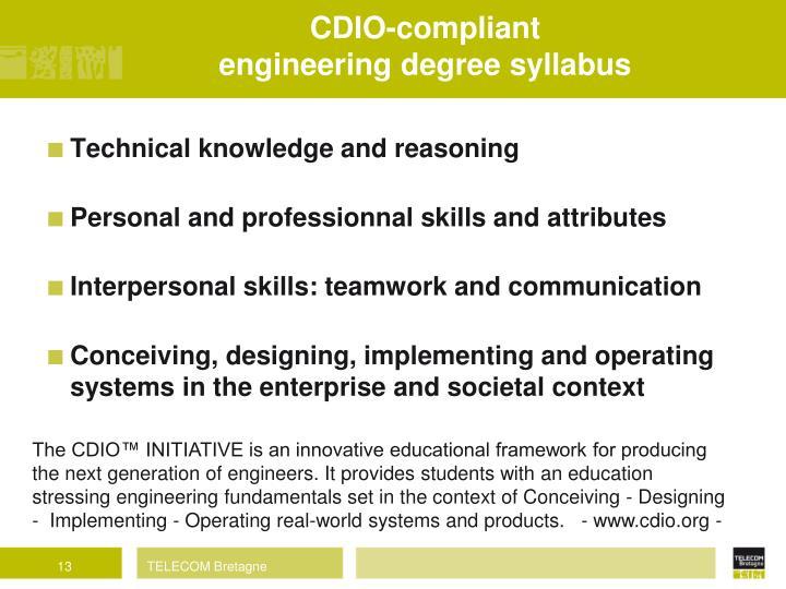 CDIO-compliant