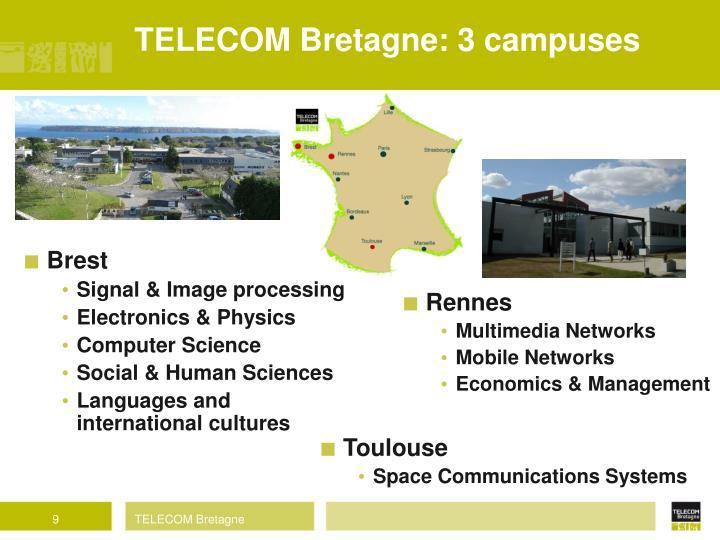 TELECOM Bretagne: 3 campuses