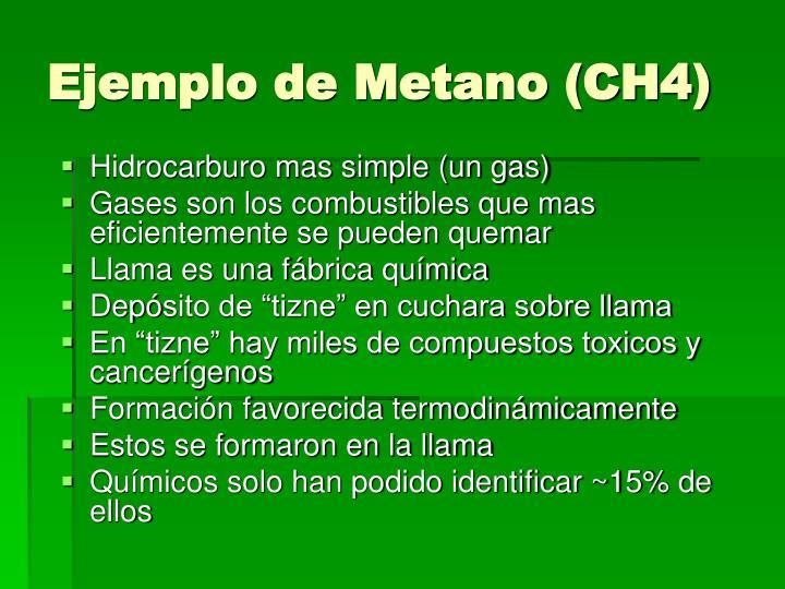 Ejemplo de Metano (CH4)