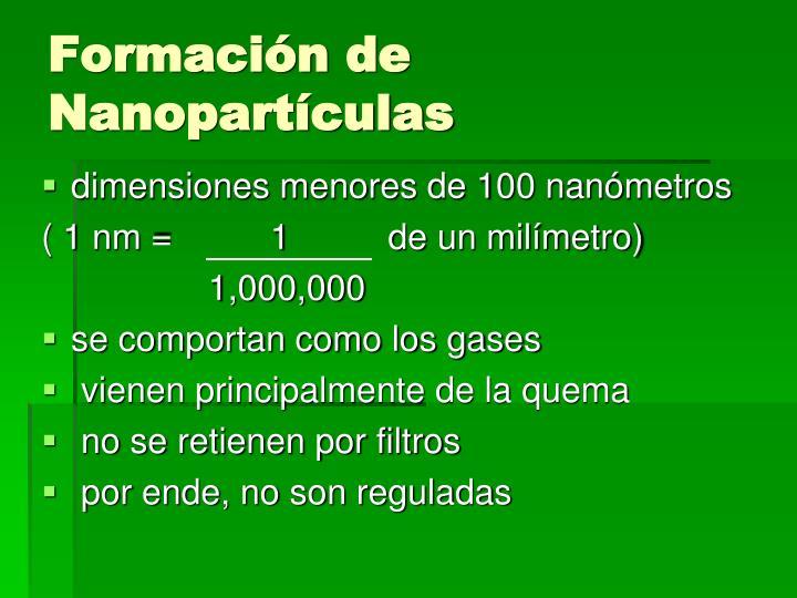 Formación de Nanopartículas