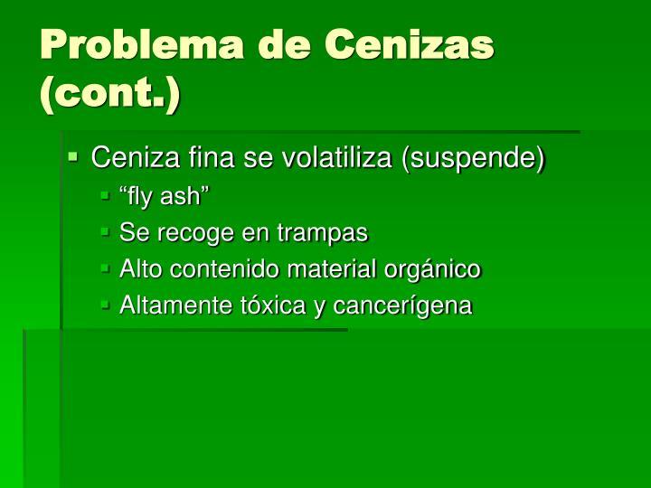Problema de Cenizas (cont.)
