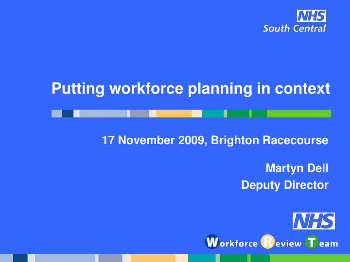 putting workforce planning in context n.