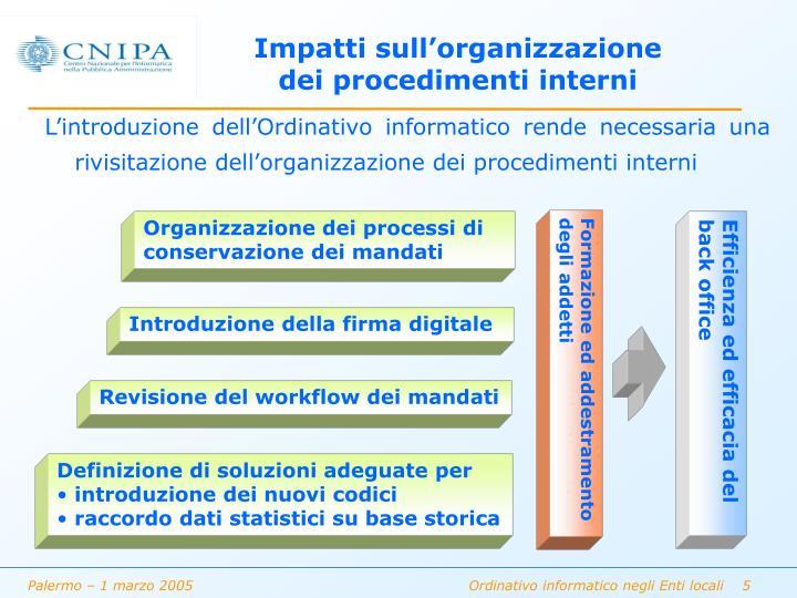 Organizzazione dei processi di