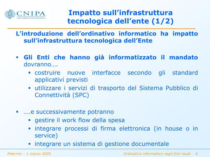 Impatto sull'infrastruttura