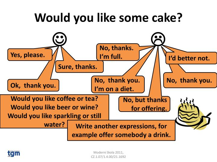 Would you like some cake?