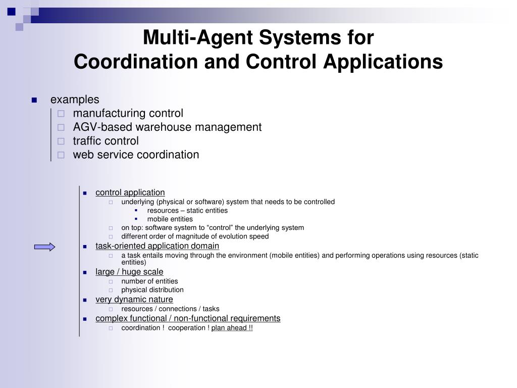 PPT - Topic 8: Coordination and Control Applications
