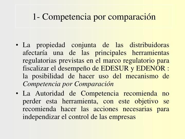 1- Competencia por comparación