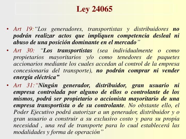 Ley 24065