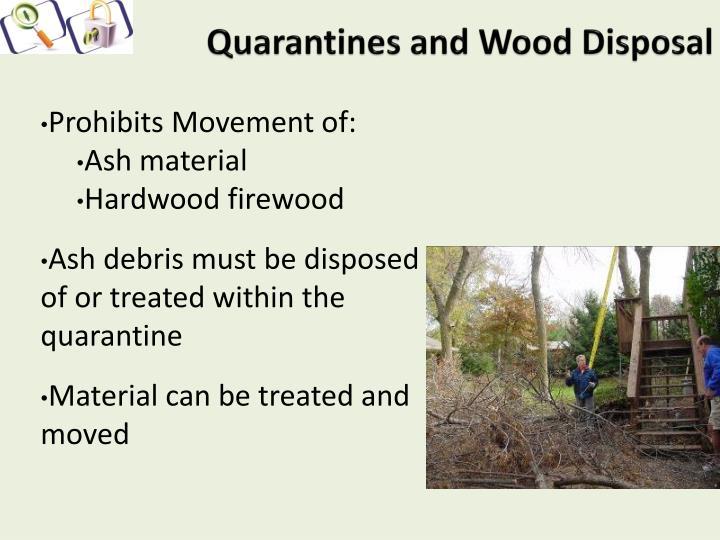 Quarantines and Wood Disposal