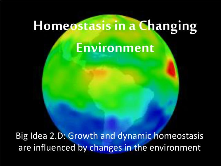 big idea 2 d growth and dynamic homeostasis are influenced by changes in the environment n.
