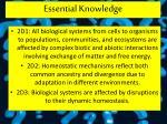 essential knowledge