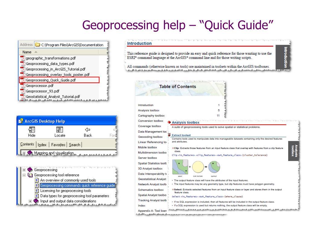 PPT - Python, ArcToolBox, & Geoprocessing PowerPoint