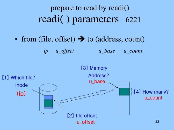 prepare to read by readi()