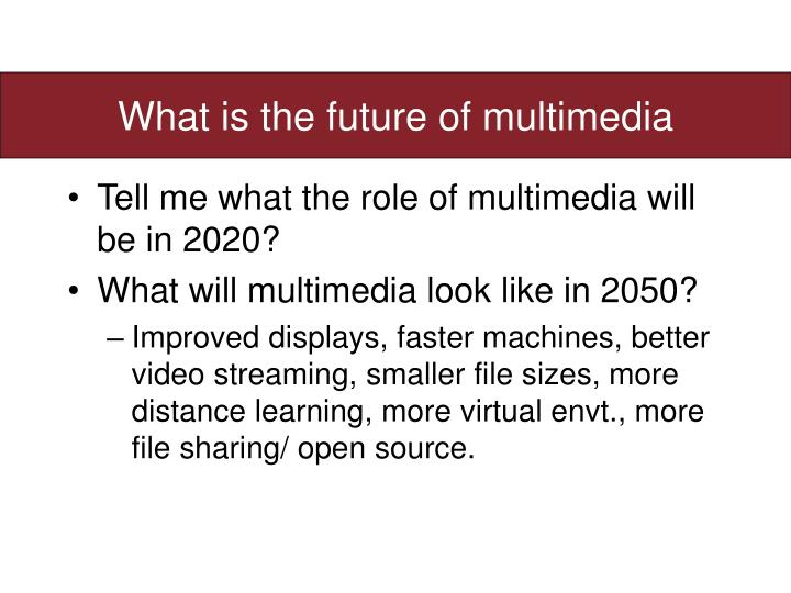 What is the future of multimedia