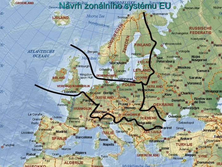 Návrh zonálního systému EU