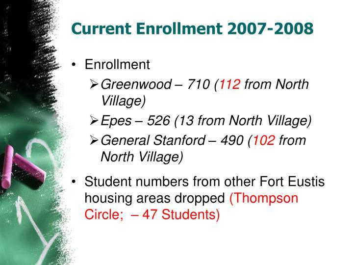 Current enrollment 2007 2008