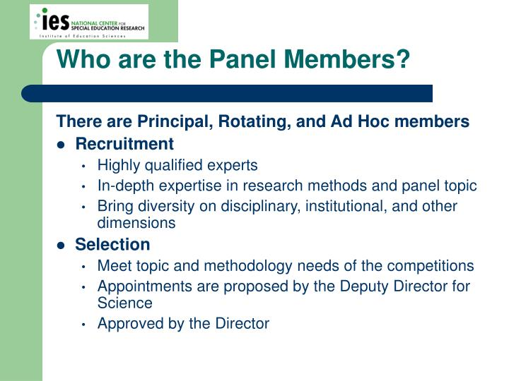 Who are the Panel Members?