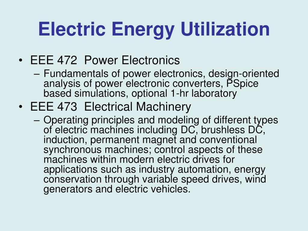 PPT - Electric Power and Energy Systems Engineering Program – An