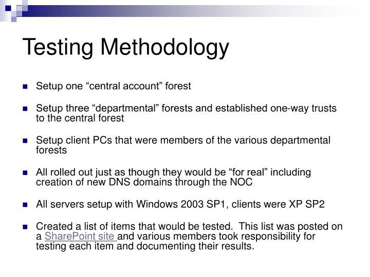 Testing Methodology