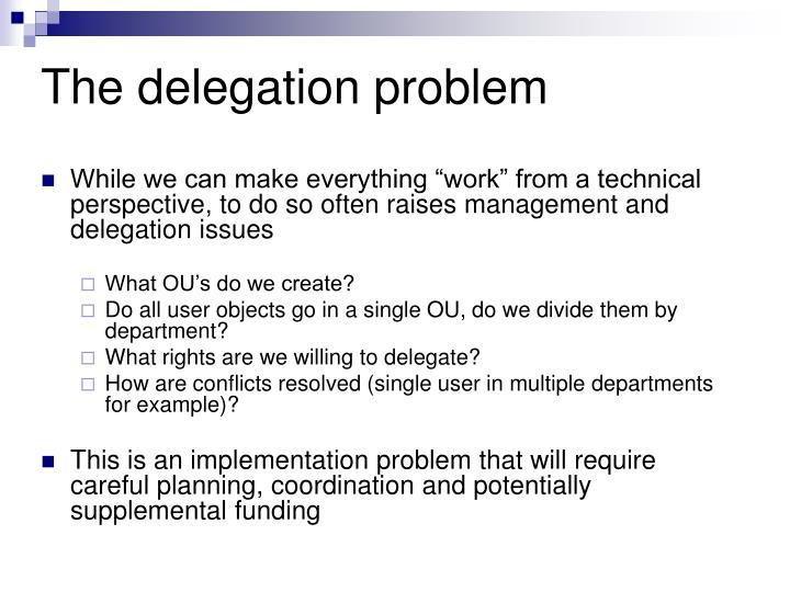 The delegation problem