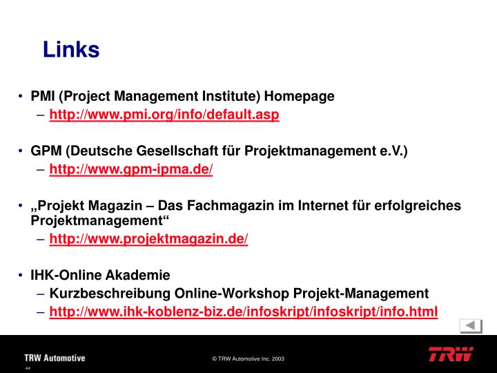 PMI (Project Management Institute) Homepage