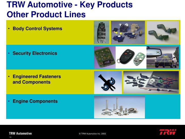 TRW Automotive - Key Products