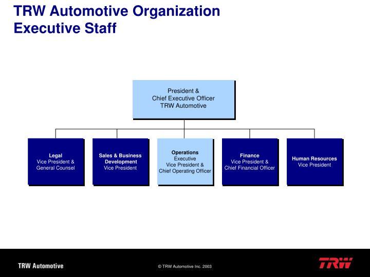 TRW Automotive Organization