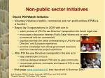 non public sector initiatives