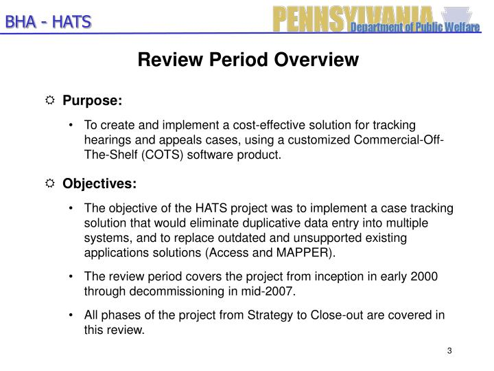 Review period overview