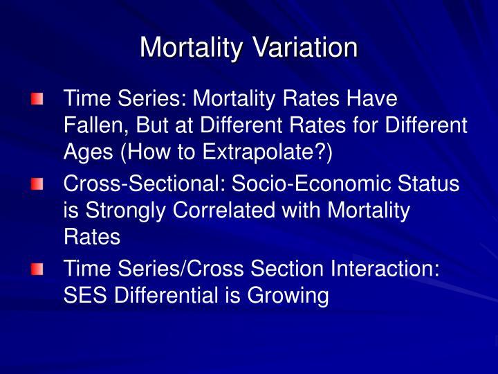 Mortality Variation