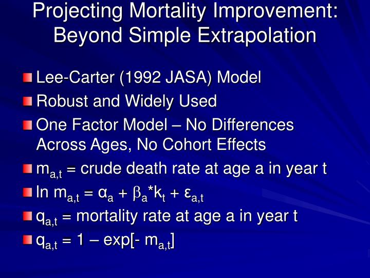 Projecting Mortality Improvement: Beyond Simple Extrapolation