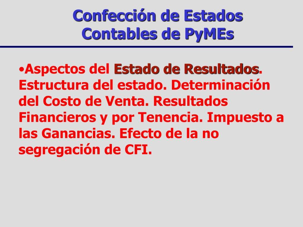 Ppt Confección De Estados Contables De Pymes Powerpoint